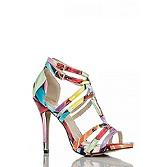 Quiz - Multi balloon print loop sandals