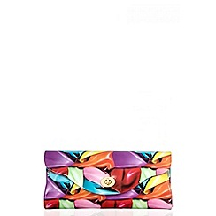 Quiz - Multi balloon print clutch bag