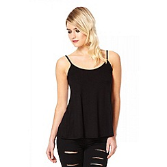 Quiz - Black cami vest top