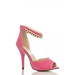 Quiz - Pink Chain Strap Heel Shoes