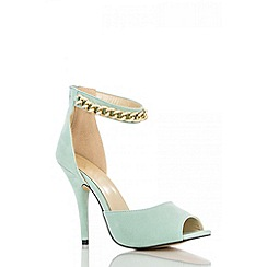 Quiz - Mint Chain Strap Heel Shoes