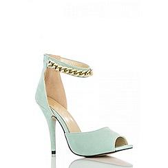 Quiz - Mint Chain Strap Heel Shoes