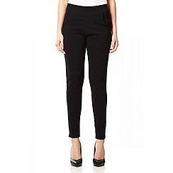 Quiz - Black Crepe Elasticated Waist Trousers
