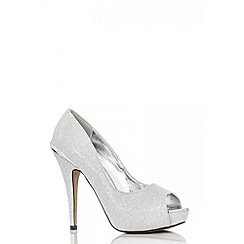 Quiz - Silver shimmer platform shoes