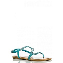 Quiz - Blue facet zig zag sandals