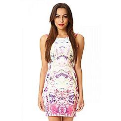 Quiz - Pink floral print dress
