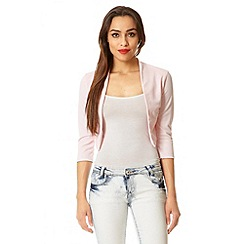 Quiz - Pink 3/4 sleeve crop jacket