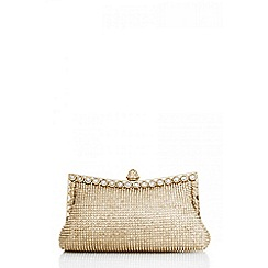 Quiz - Gold diamante trim purse bag