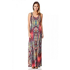 Quiz - Pink tribal strap back maxi dress