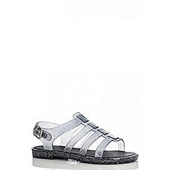 Quiz - Grey Cage Jelly Sandals