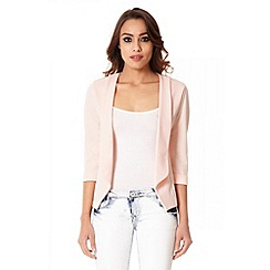 Quiz - Blush Pink Open Front Blazer