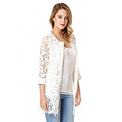 Quiz - White Lace 3/4 Sleeve Jacket