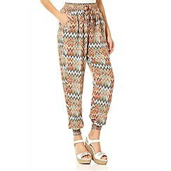 Quiz - Multi Colour Zig Zag Trousers