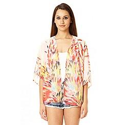 Quiz - Multi Colour Chiffon Print Kimono