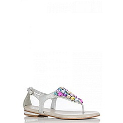 Quiz - Multi Colour Round Diamantes Sandals