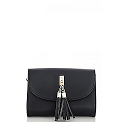 Quiz - Black tassel messenger bag