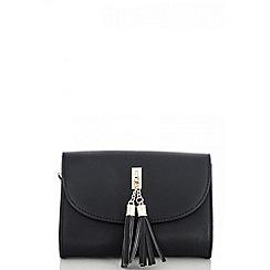 Quiz - Black tassel messenger bag