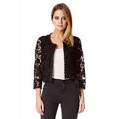 Quiz - Black lace crop jacket
