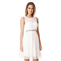 Quiz - White chiffon crystal prom dress