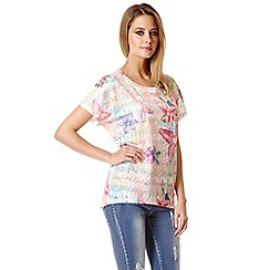Quiz - Multi colour floral oversized top
