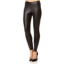 Quiz - Black wet look high waist leggings
