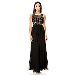 Quiz - Black sequin cluster maxi dress