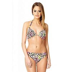 Quiz - Pink leopard print cup bikini