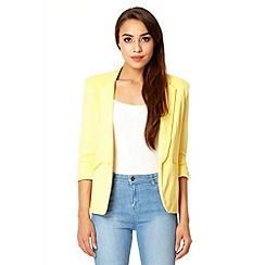 Quiz - Lemon 3/4 sleeve blazer