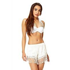 Quiz - White multi strap cup bikini
