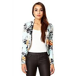 Quiz - Aqua oriental print blazer