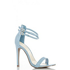 Quiz - Blue ankle double strap sandals