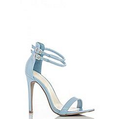 Quiz - Blue ankle double strap sandals