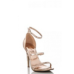 Quiz - Rose gold strap sandals