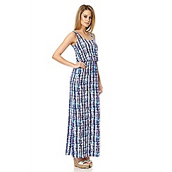 Quiz - Blue print sleeveless maxi dress