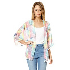 Quiz - Multi colour pineapple print kimono