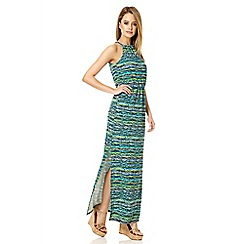 Quiz - Blue crepe stripe maxi dress