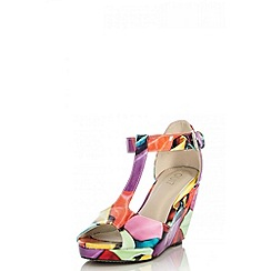 Quiz - Multi balloon print T-bar wedges
