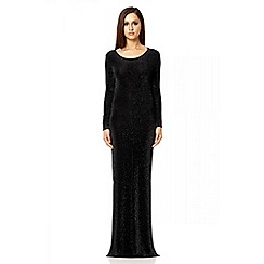 Quiz - Black brillo split maxi dress