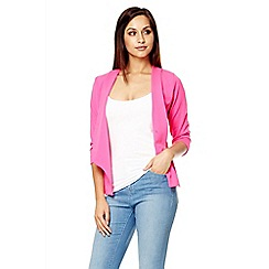 Quiz - Hot pink open front blazer