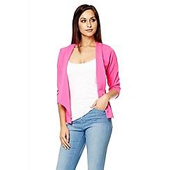 Quiz - Hot pink open front blazer