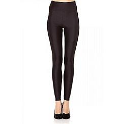 Quiz - Black shiny disco leggings