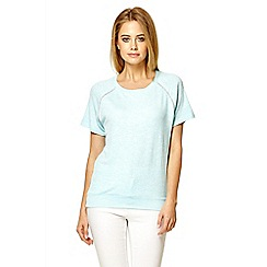 Quiz - Blue diamante detail top