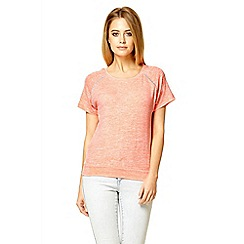 Quiz - Coral diamante detail top