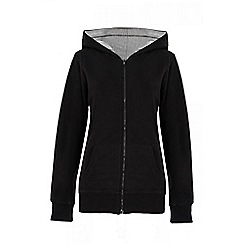 Quiz - Black loop zip front hood jumper