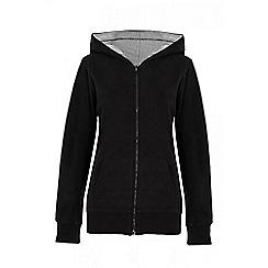Quiz - Black loop zip front hood jumper