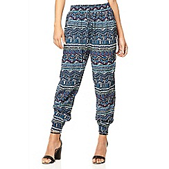 Quiz - Blue aztec print trousers