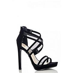 Quiz - Black mesh strap sandals