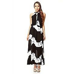 Quiz - Black and white print maxi dress