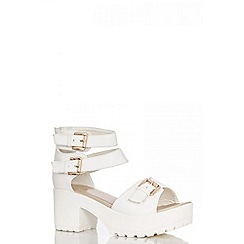 Quiz - White ankle strap sandals