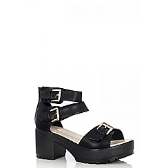 Quiz - Black ankle strap sandals